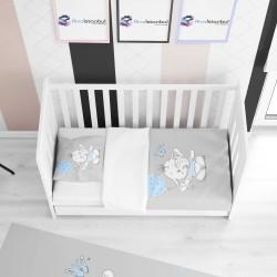 Balonlu Fil Çocuk Yatak Örtüsü