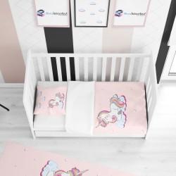 Buluttaki Unicorn Çocuk Yatak Örtüsü