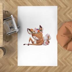 Bambi ve Küçük Dostu Çocuk Halısı