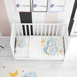 Buluttaki Ayıcık Çocuk Yatak Örtüsü