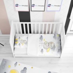 Balonlu Uçan Fil Çocuk Yatak Örtüsü